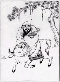 Imagen de Lao-Tsé montado en el buey azul